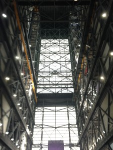 Looking up, where the Saturn rockets and Space Shuttles would have been....(Photo JTL)