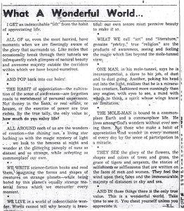 Ernest Lyons copy of column, ca 1950.