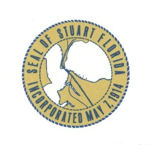 Stuart's City Seal The original seal of Stuart was designed by a committee of three, A. T. Hogarth, J. A. Hancock and Curt Schroeder. It showed the confluence of the north and south forks of the St. Lucie River and the Florida East Coast railroad bridge. The original seal, adopted when Stuart was incorporated on May 7, 1914, served through the 1970s. (Sandra Henderson Thurlow, Stuart on the St Lucie)