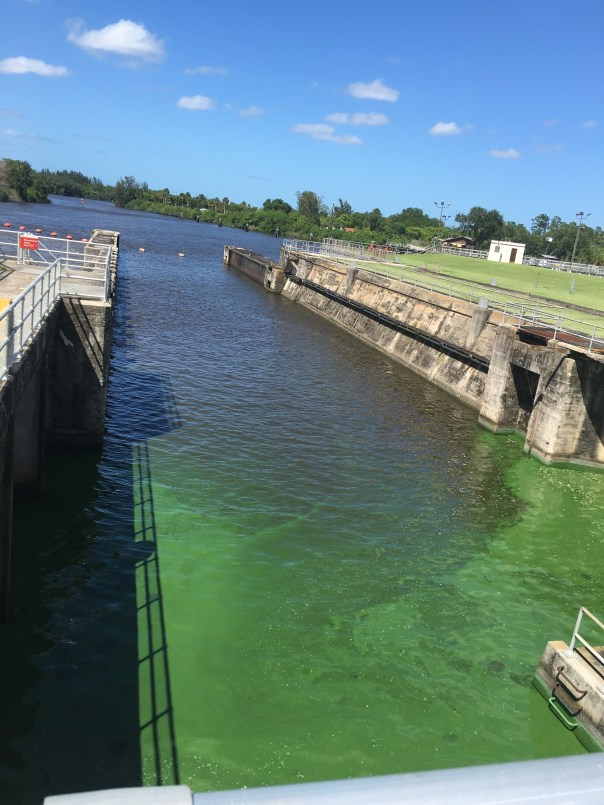St Lucie Locks and Dam looking east to the SLR
