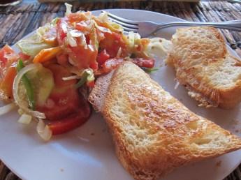 Prawn salad sandwich