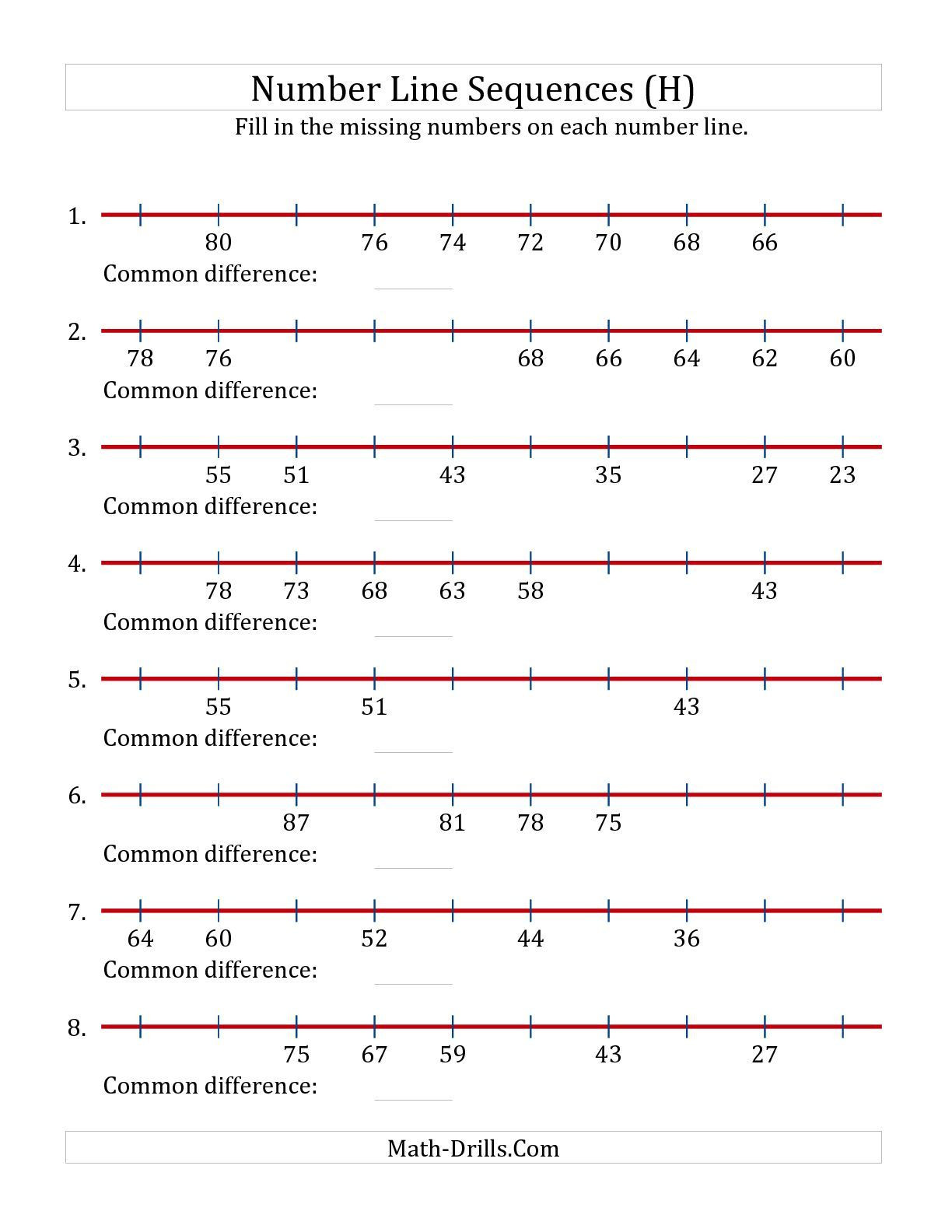 30 Decimals On Number Line Worksheets