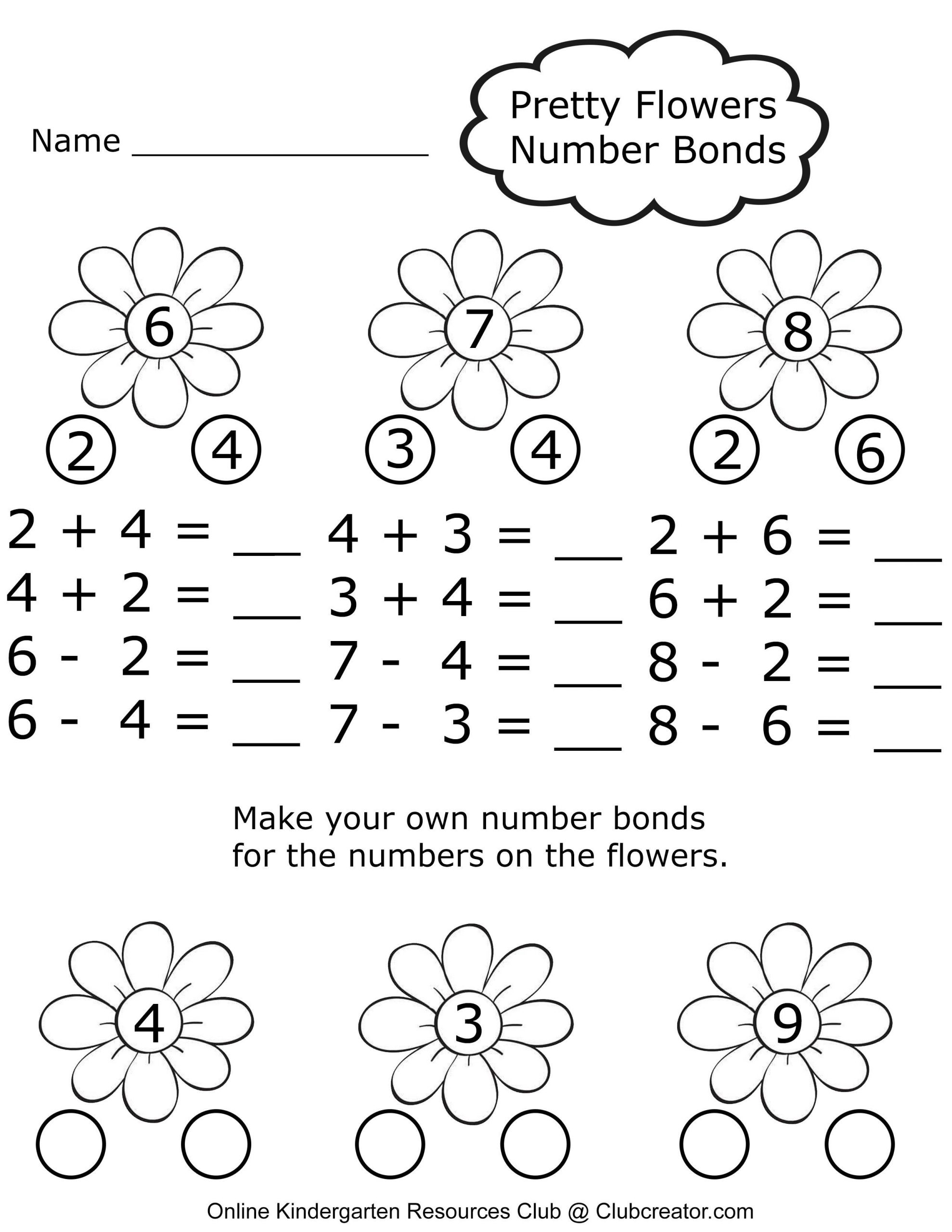 30 Kindergarten Number Bond Worksheets