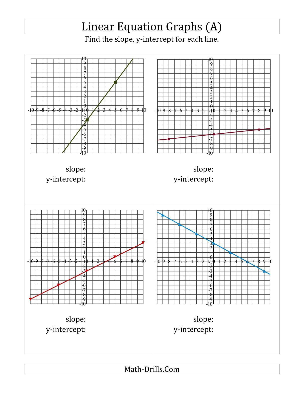 30 Linear Equations From Tables Worksheet