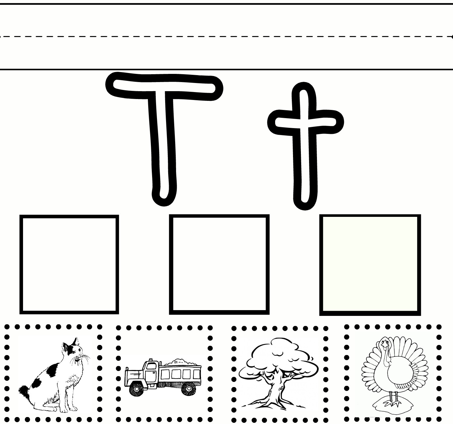 30 Cut And Paste Letter Worksheets