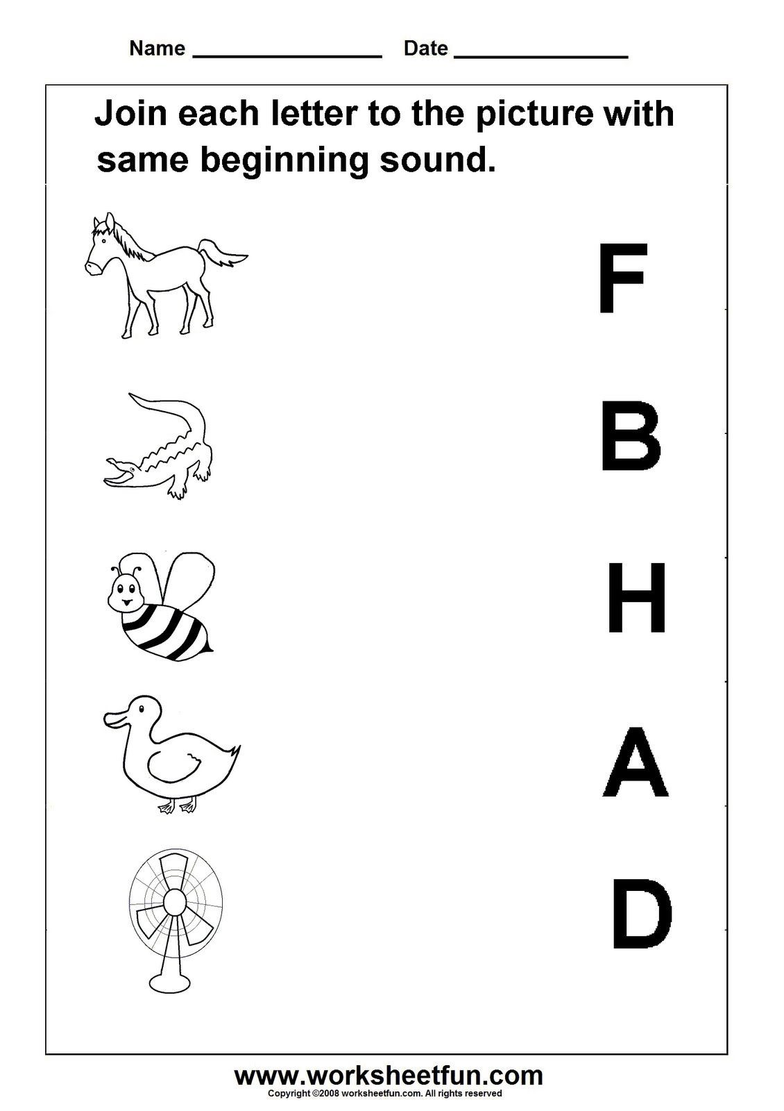 Kindergarten Letter Sounds Worksheet Template Library