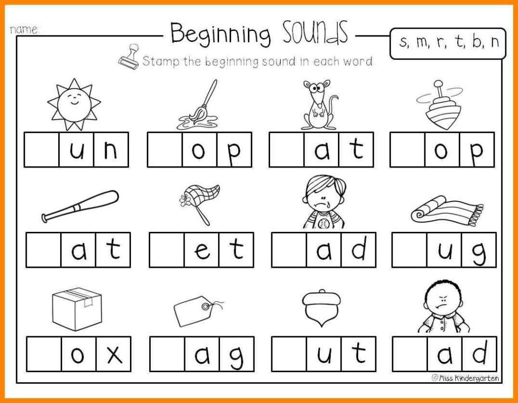 30 Letter Sounds Worksheets For Kindergarten