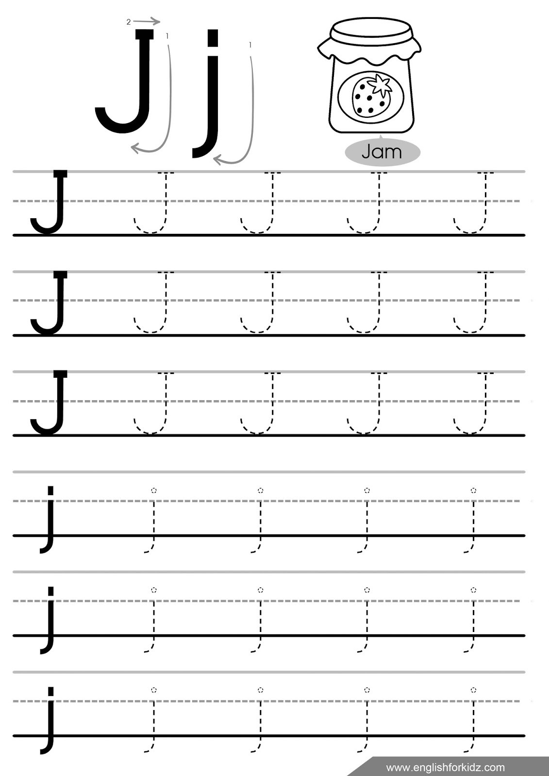 30 Lower Case Letter Tracing Worksheets
