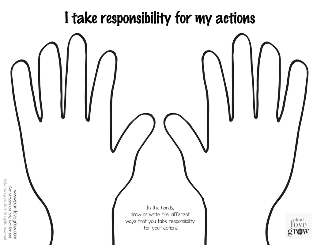 30 Taking Responsibility For Actions Worksheet