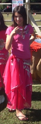 Pink belly dance girl
