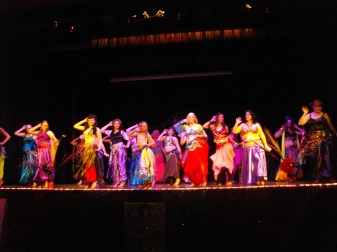 Happy: Seeing all ages up and dancing together (this pic is of Kempsy's Ishtar girls)