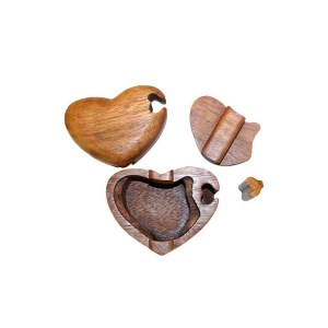 Single Heart Bali Puzzle Box