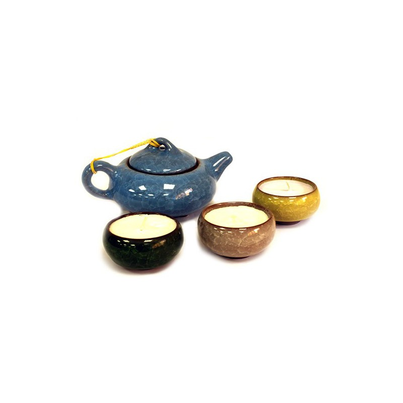 Oriental Teapot Candles - Giftset