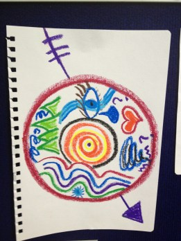Mandala being used to explore career issues