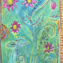 journal flowers