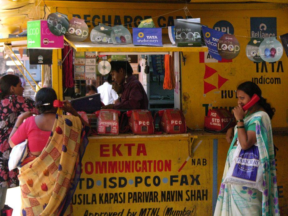 Phone booth, Mumbai, India, image by Jade Jackson