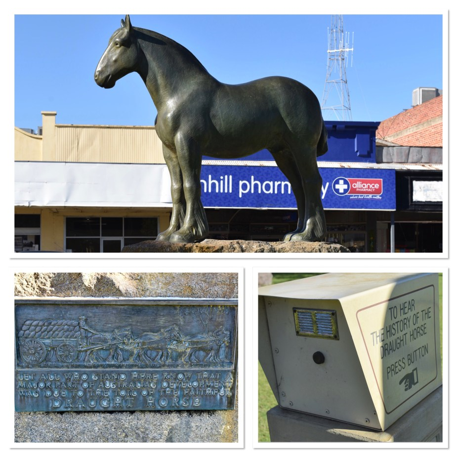Statue of a horse in Nhill, Victoria. Image by Jade Jackson.