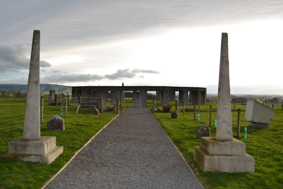 Stonehenge Aotearoa, pillars of the sun gate, Carterton, (near Wellington), New Zealand. Image by Jade Jackson.