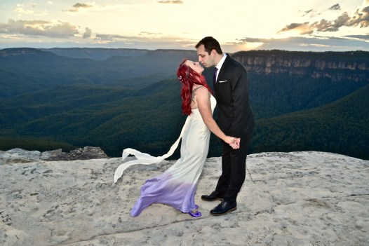 Chrystle and Jason, Wentworth Falls, Blue Mountains