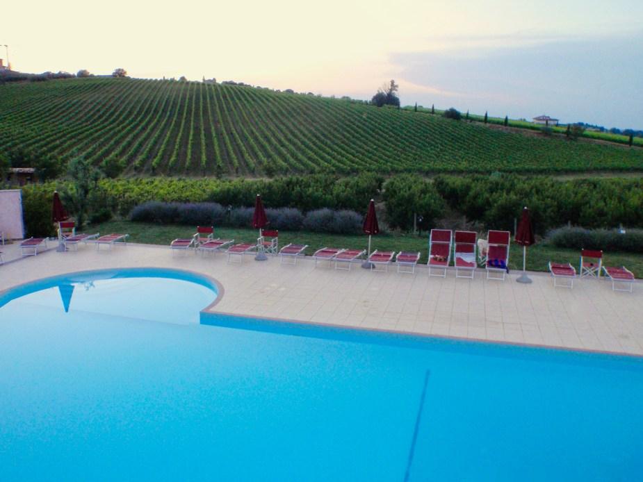 Italian Vineyard and pool in Tuscany, Italy (near Forli). Image by Travel Photographer, Jade Jackson.