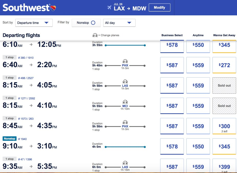 Southwest Airlines LAX to CHI article by Jade Jackson