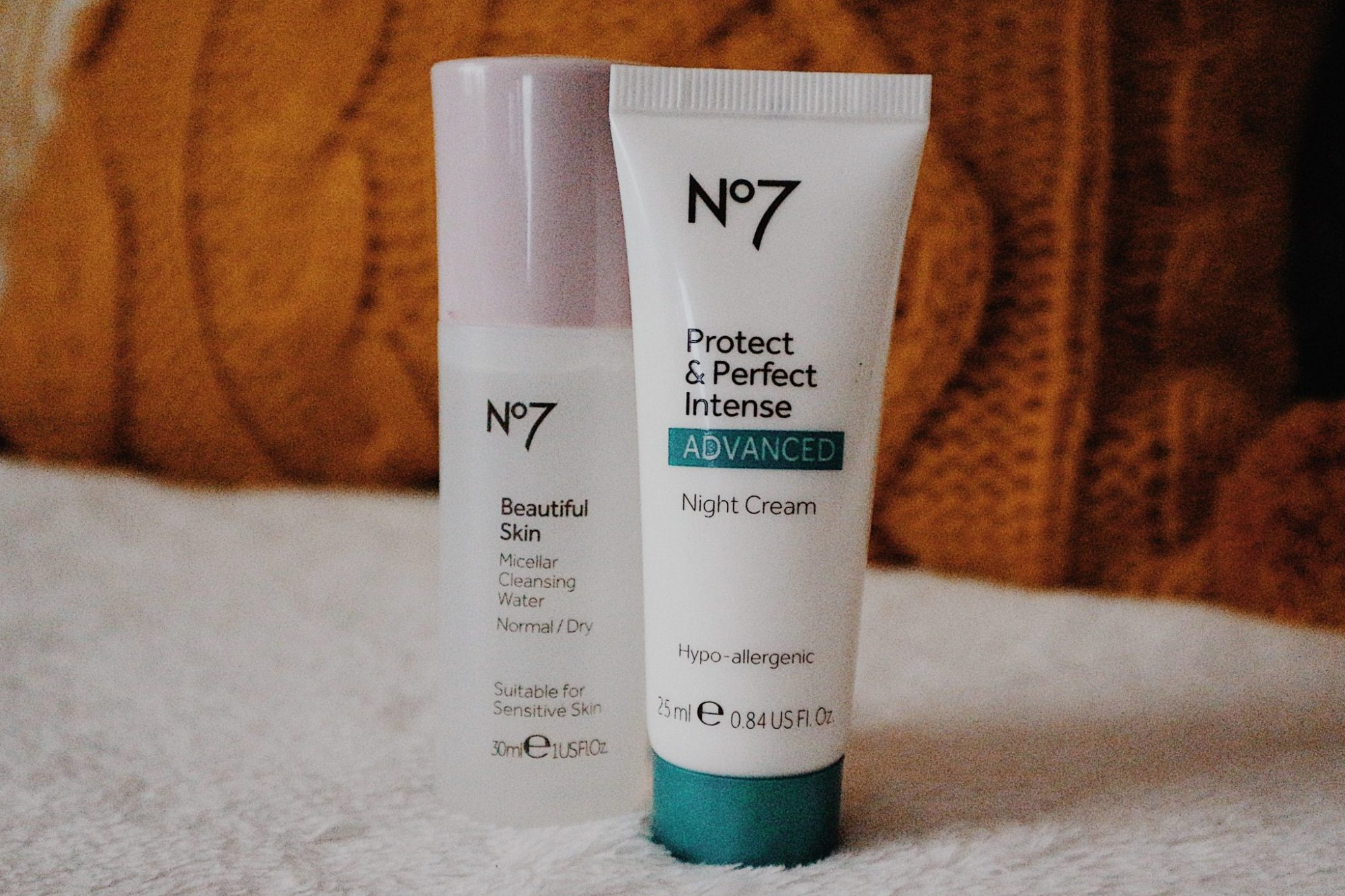 Mini No7 Beautiful Skin Micellar Cleansing Water + Protect and Perfect Intense Advanced Night Cream