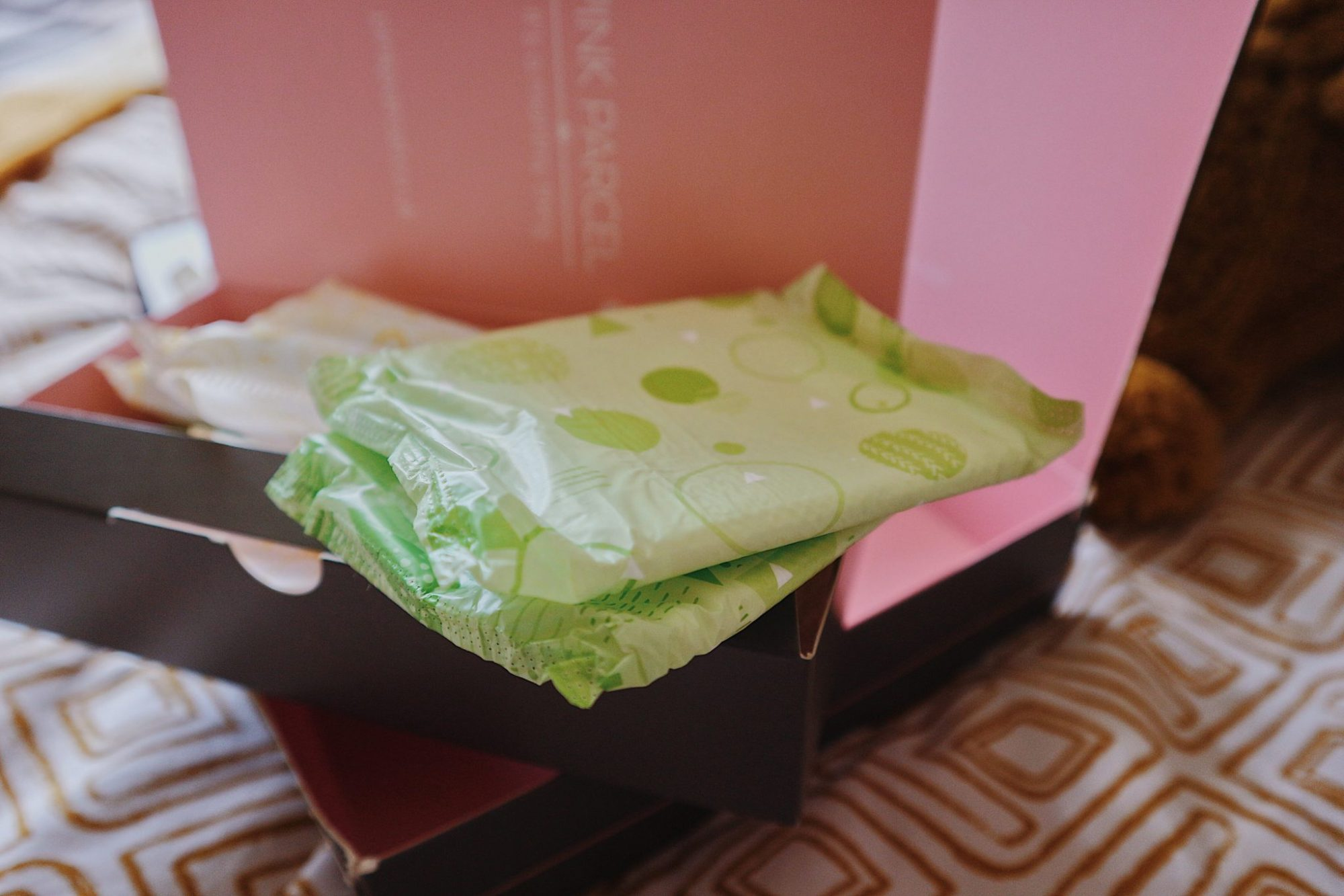 Pink Parcel Period Subscription Box Daytime Pads