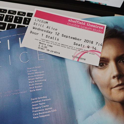 Still Alice Programme Book and Ticket