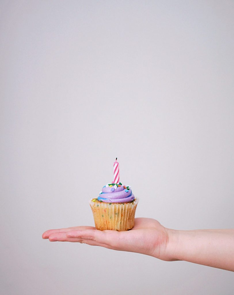 Cupcake Birthday Cake With Candle