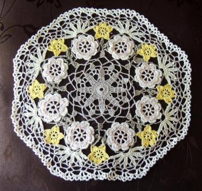 Floral Web Crochet Doily