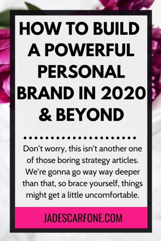 It's time to look at how to build a powerful personal brand in 2020, and beyond. And let me tell you, it's probably not what you think...