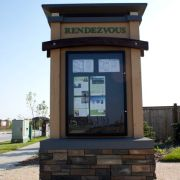 Qualico Rendezvous Information Kiosk by Jade SignWorks