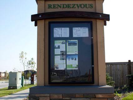 Qualico Rendezvous Information Kiosk by Jade SignWorks