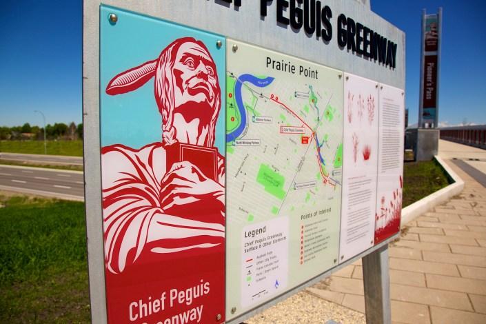 chief peguis geenway lexan sign