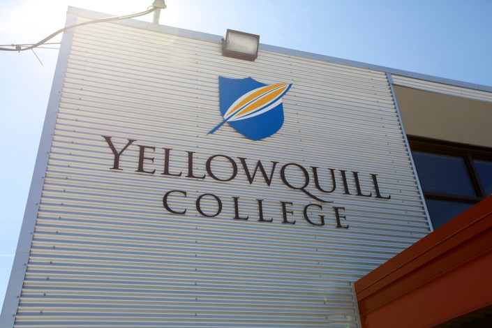yellowquill college signs