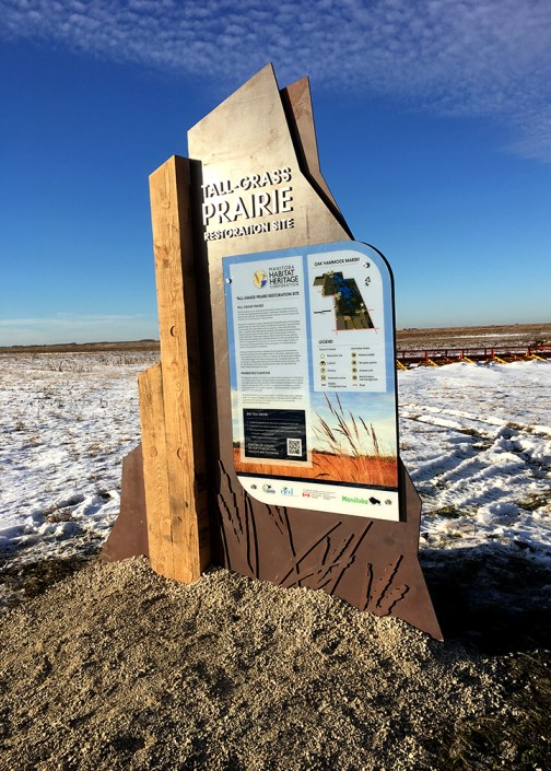 winnipeg tall grass prairie sign