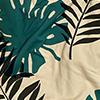 IVORY/GREEN TROPICAL LEAVES