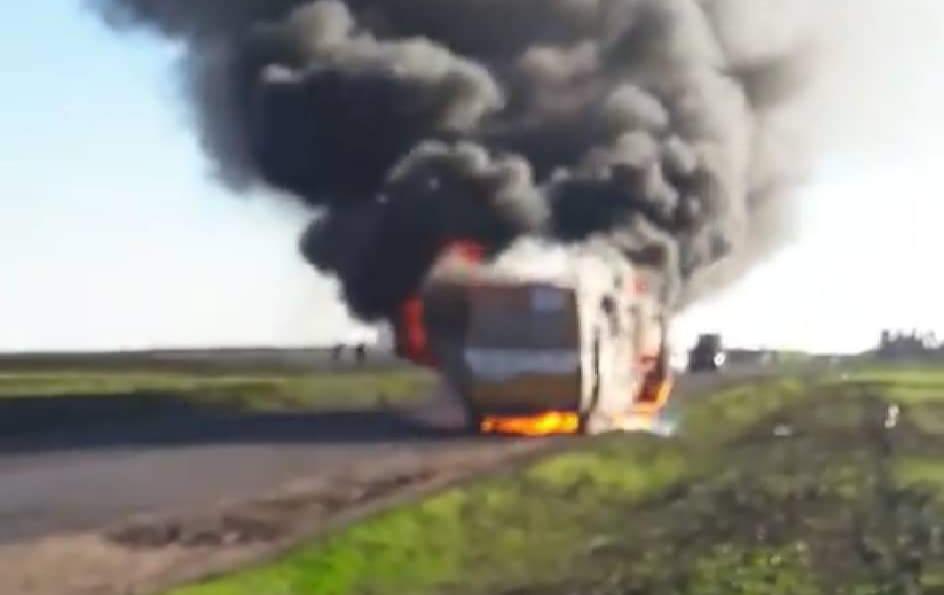 اندلاع حريق خطير في حافلة للنقل المدرسي ضواحي سطات