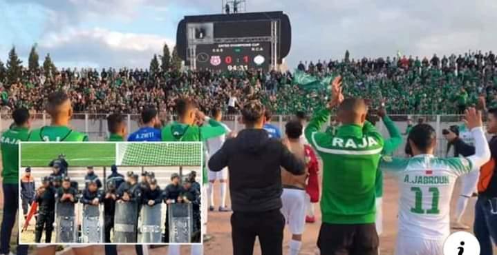 جماهير الرجاء تخلقُ الحدث في ملعب سوسة بتونس