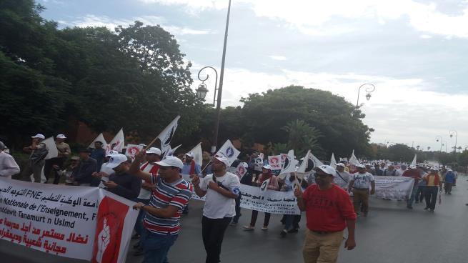 أساتذة المغرب يبدأون أسبوعاً احتجاجياً ساخناً