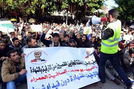 بعد إضراب المتعاقدين…الأساتذة حاملو الشهادات يصعدون احتجاجا ضد وزارة أمزازي