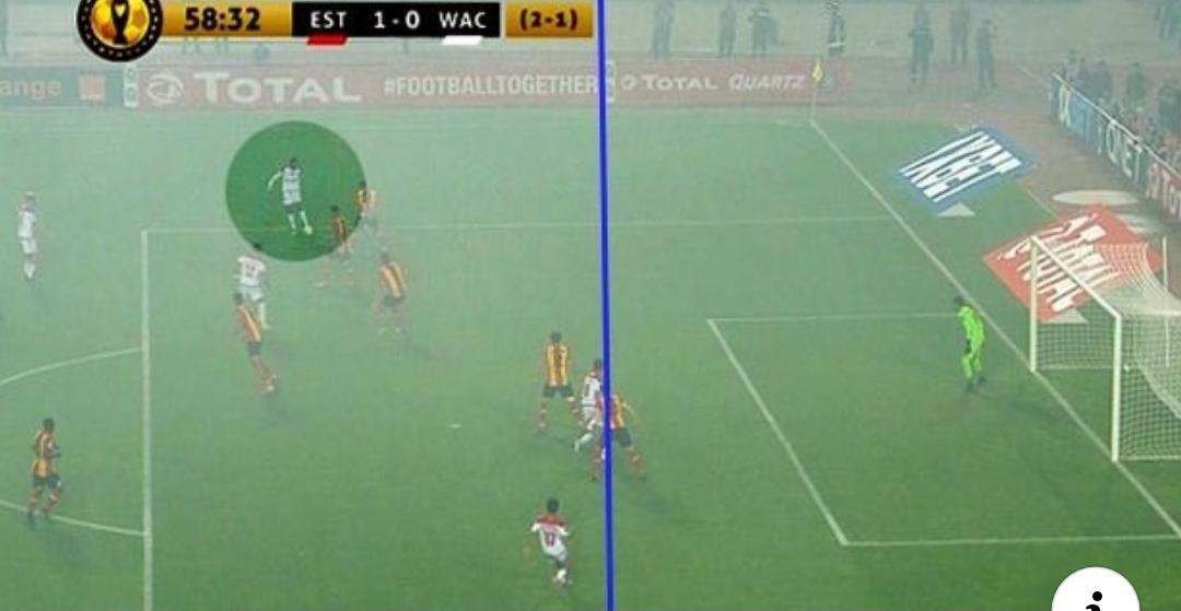 لاعبو الوداد ينتفضون ضد الحكم وتوقف المباراة بسبب استفزازات الترجي(فيديو)
