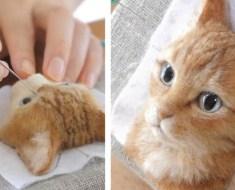 Cette fille réalise des portraits de chats avec de la laine, et le résultat semble prendre vie sous nos yeux