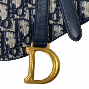 Dior Blue Oblique Canvas Saddle Flat Belt Pouch