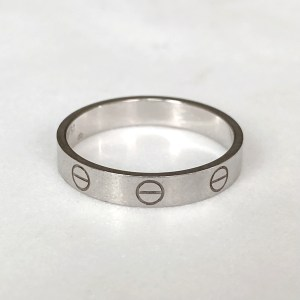 Cartier White Gold Wedding Band Love Ring 8