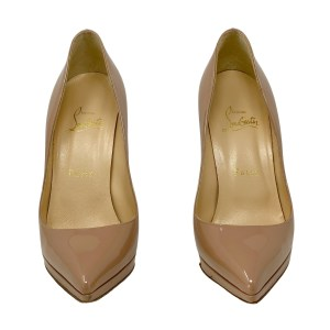 Christian Louboutin Nude Patent Pigalle Plato Pumps 110mm 36.5