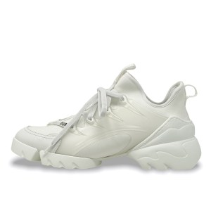 Dior White D Connect Sneakers 38