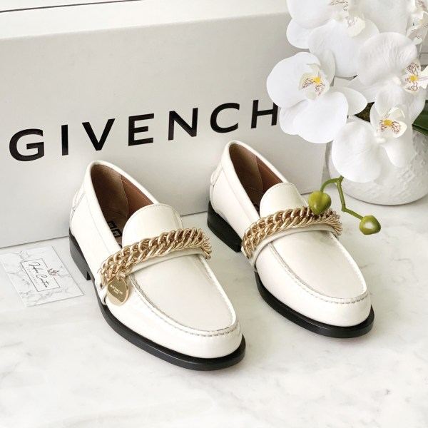 Givenchy White Chain Loafer 36