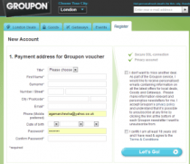 Register with Groupon for daily deals