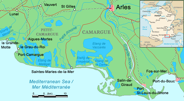 Camargue Map